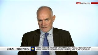 Crispin Blunt talking in the Millbank studio.