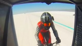 American woman sets new record for cycling in a slipstream