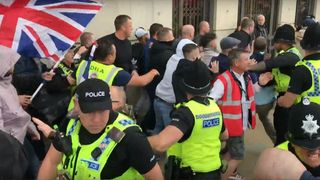Democratic Football Lads Alliance (DFLA) rally