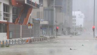 Hong Kong battered by typhoon