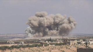 Airstrikes on southern Idlib
