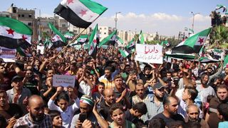 Syrians protest in Idlib