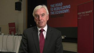 Labour MP John McDonnell dismisses 'invented stories' from Chuka Umunna.