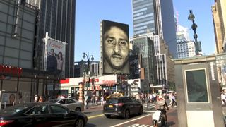 Nike launches controversial Colin Kaepernick billboard campaign.