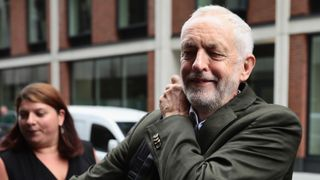 Labour Leader Jeremy Corbyn arrives at a meeting of the National Executive of Britains Labour Party on September 4, 2018 in London, England. Labour's National Executive committee will today decide on the party's new antisemitism definition.