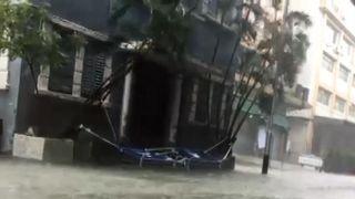 Heavy flooding in Macau following Typhoon Mangkhut