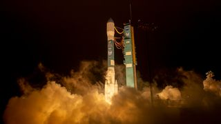The United Launch Alliance (ULA) Delta II rocket is seen as it launches with the NASA Ice, Cloud and land Elevation Satellite-2 (ICESat-2) onboard, Saturday, Sept. 15, 2018, Vandenberg Air Force Base in California. The ICESat-2 mission will measure the changing height of Earth's ice. Photo Credit: (NASA/Bill Ingalls)
