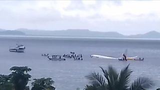Plane crashes into sea but all on-board survive