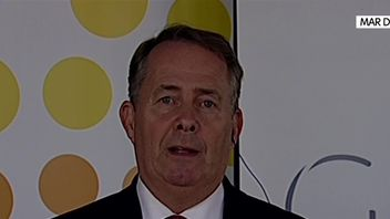Liam Fox gives support to PM's Brexit plan