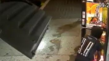 NYPD seek man in connection with an apparent arson attack on a shop in the Bronx