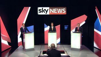 Picture from the 2010 leaders' TV debate