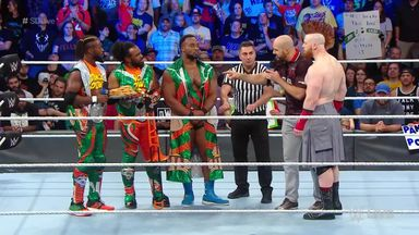Big E and Sheamus clash