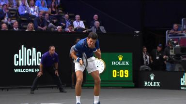 Djokovic hits Fed in Laver Cup doubles!