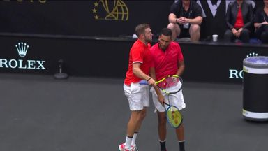 Sock and Kyrgios light it up at Laver Cup