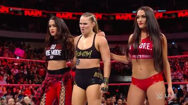 Rousey & Bella Twins fight off Riott Squad