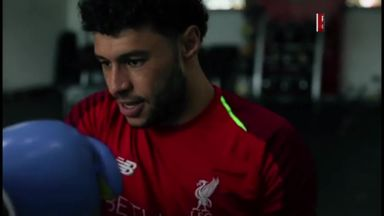 Ox shows off his boxing skills