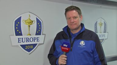 Inside Team Europe's dressing room