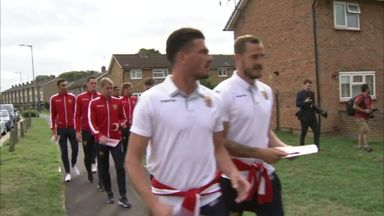 Stevenage players make special delivery!