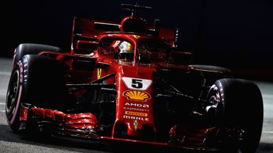Vettel hits the wall