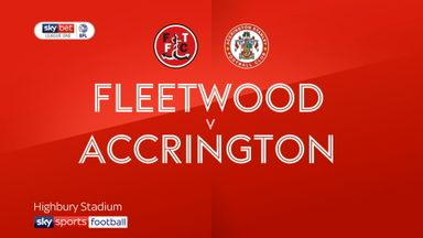 Fleetwood Town 1-1 Accrington Stanley