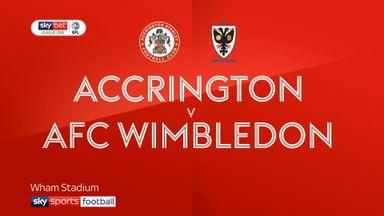 Accrington 2-1 AFC Wimbledon