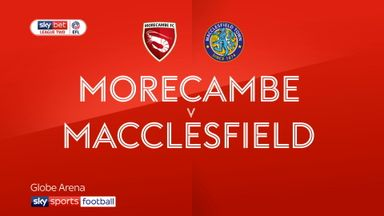 Morecambe 2-1 Macclesfield