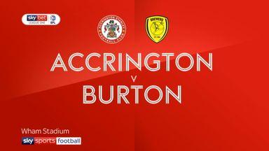 Accrington 1-1 Burton