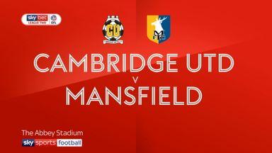 Cambridge 1-1 Mansfield