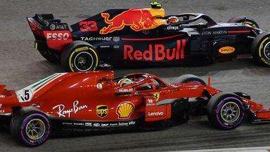 Vettel passes Verstappen
