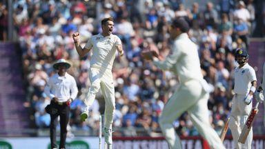 Anderson's milestone wickets