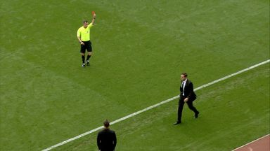 Lampard sent off during defeat