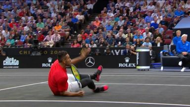 Kyrgios wins 21-shot rally