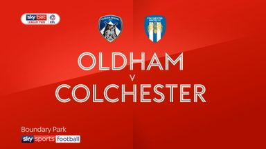 Oldham 3-3 Colchester