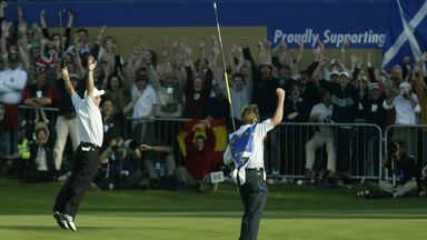 Ryder Cup moments: McGinley's lake jump!