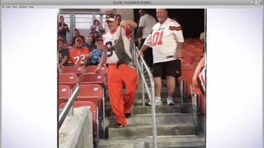 Was this possum the Browns' lucky charm?