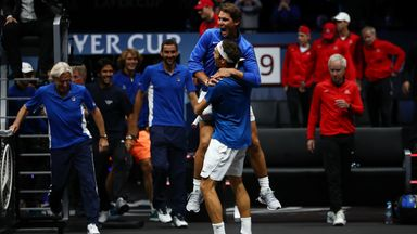 When Federer won Europe the Laver Cup