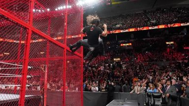 Rollins and Ziggler fall off cell