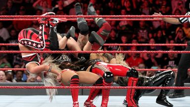 Huge six-woman suplex!