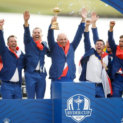 Europe reclaims the  Ryder Cup