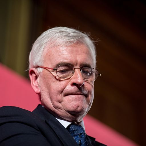 McDonnell 'worried' about prospect of Labour split