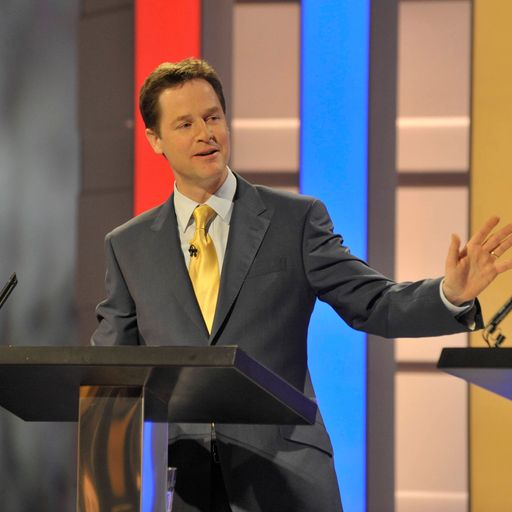 Clegg: Leaders' TV debates should be immovable