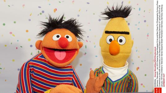 And they called it 'puppet love'... but Bert and Ernie are just friends