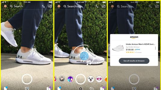Snapchat's camera will attempt to identify products you point it at