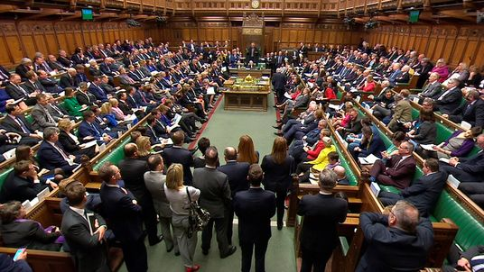 Britain's Prime Minister Theresa May addresses the House of Commons