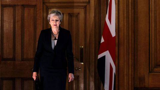 Theresa May has remained steadfast in the face of another Brexit setback