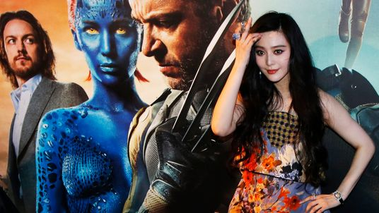 """Cast member Fan Bingbing poses at the South East Asia premiere of """"X-Men: Days Of Future Past"""" in Singapore..."""