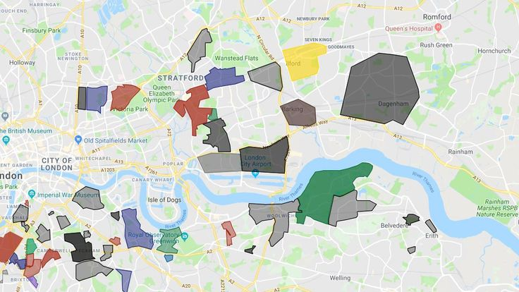 East London has a spread of several gangs