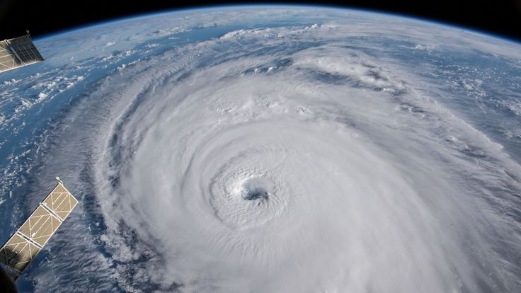 A view of Hurricane Florence churning in the Atlantic Ocean