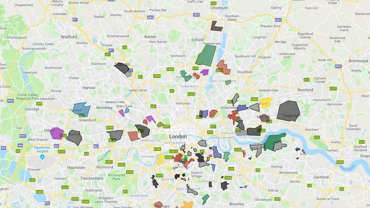 Map To London.London Map Shows Territories Of Dozens Of Gangs Uk News Sky News