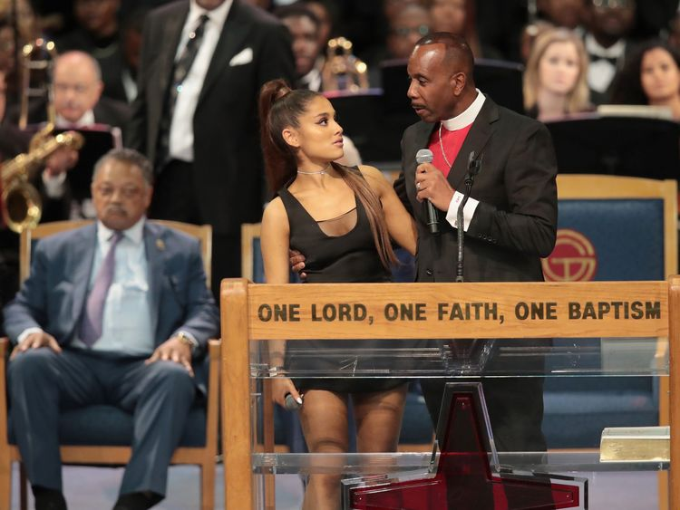 Ariana Grande bishop's 'grope' apology in full